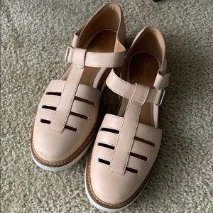 Clark's Blush Pink Tan Beige Flats Shoes Sz 8.5